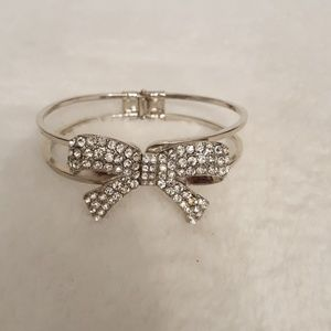 Sequin Bow Bracelet.. | Color: Silver